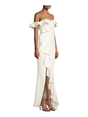 LIKELY miller off-the-shoulder ruffled gown