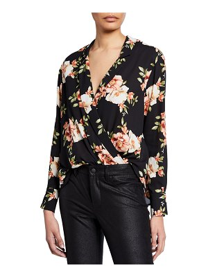 LIKELY Mimi Floral Wrap-Front Draped Top