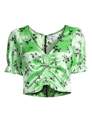 LIKELY mona floral cropped blouse