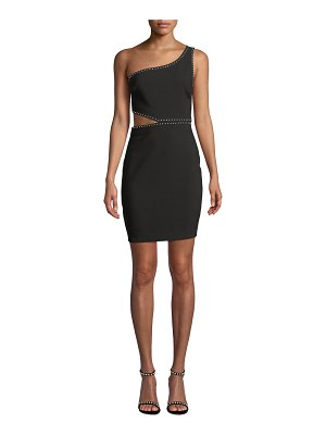 LIKELY Portia Studded One-Shoulder Cutout Cocktail Dress