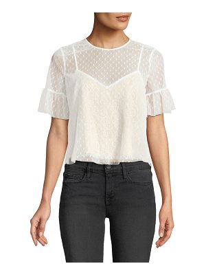 LIKELY Reena Lace Short-Sleeve Top