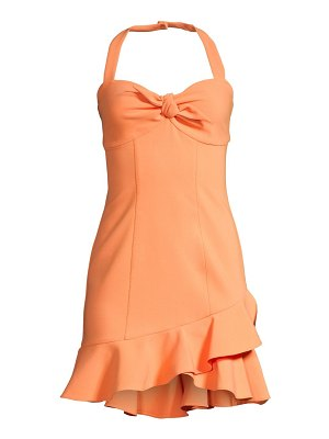 LIKELY reyn ruffle halterneck dress