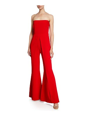 LIKELY Trista Strapless Flared-Leg Jumpsuit