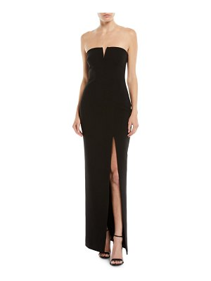 LIKELY Windsor Strapless Gown w/ High Slit