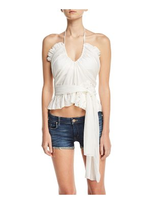 LILA.EUGENIE Frilly Cotton-Silk Voile Top