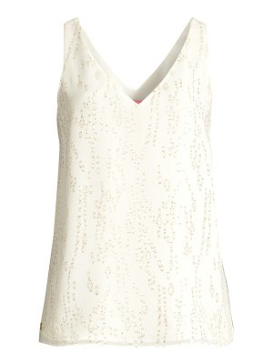 Lilly Pulitzer florin silk metallic leopard-print sleeveless top