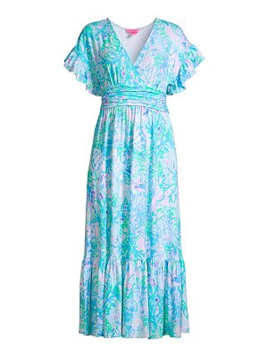 Lilly Pulitzer jessi floral midi dress