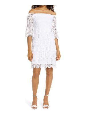Lilly Pulitzer lilly pulitzer lexa scalloped lace off the shoulder dress