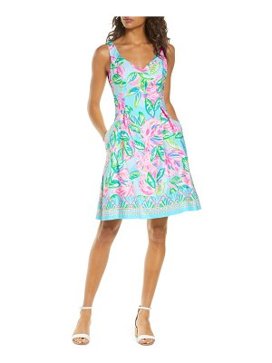 Lilly Pulitzer lilly pulitzer linnet watercolor fit & flare dress