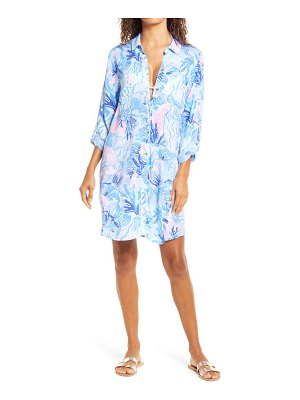 Lilly Pulitzer lilly pulitzer natalie cover-up shirt dress