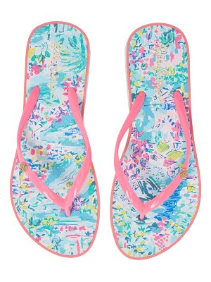 Lilly Pulitzer lilly pulitzer print flip flop