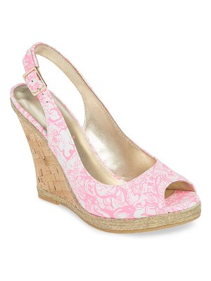 Lilly Pulitzer lily pulitzer krisie slingback wedge sandal