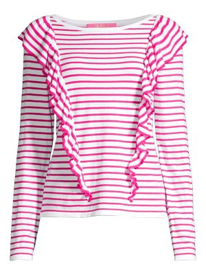 Lilly Pulitzer ruth ruffle striped sweater