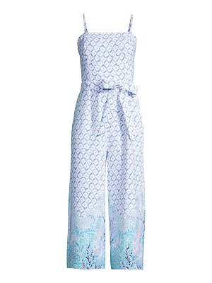 Lilly Pulitzer sandra abstract cropped jumpsuit