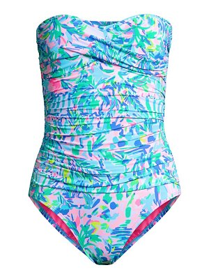 Lilly Pulitzer strapless printed one-piece swimsuit