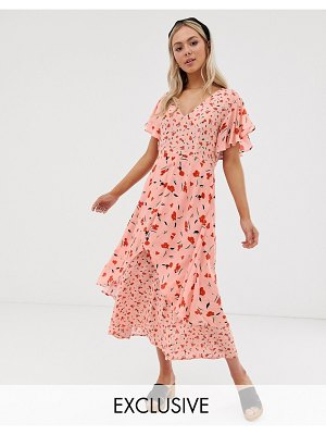 Lily and Lionel lily & lionel exclusive tiered maxi dress in floral print-pink