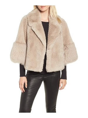 Linda Richards genuine rex rabbit fur cropped jacket