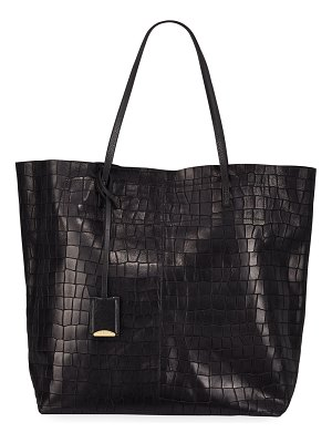 Linde Gallery Gouverneur Croc-Embossed Medium Tote Bag