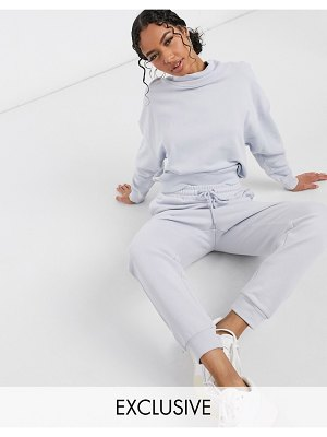 Lindex exclusive jo organic cotton fleece sweatpants in blue