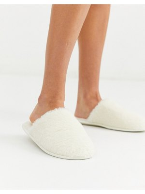 Lindex faux shearling mule slippers in cream