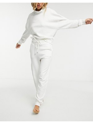 Lindex jo organic cotton fleece sweatpants in off white
