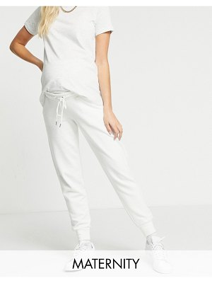 Lindex mom jo organic cotton fleece sweatpants in off white
