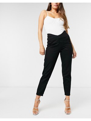 Lioness fitted denim pants in black