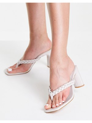 Lipsy braided sandals in stone-neutral