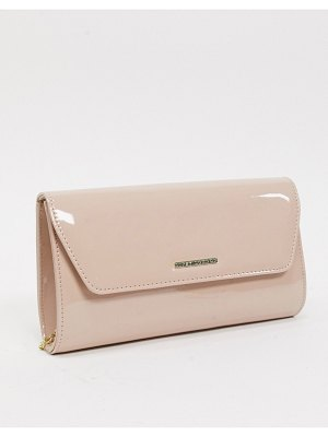 Lipsy envelope clutch with chain strap in pink