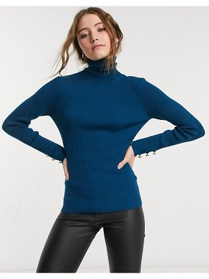 Lipsy knitted high neck sweater in green