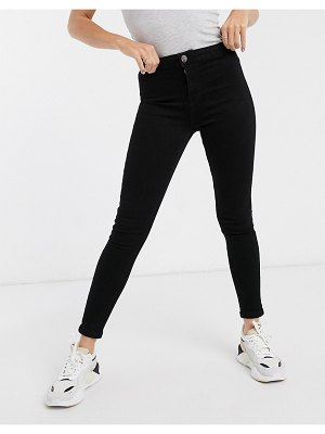 Lipsy serena high waisted jeans in black