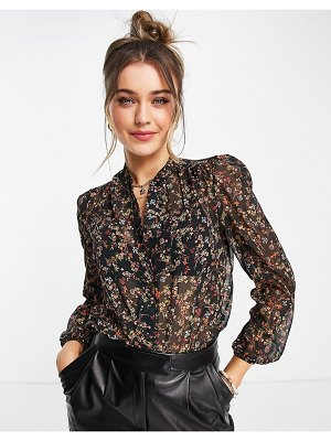 Lipsy shirt in floral print-multi