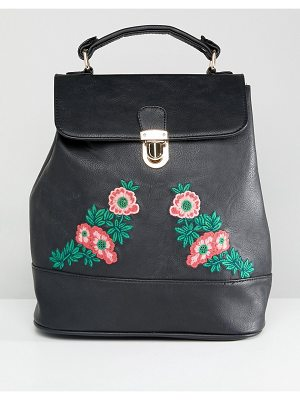 Liquorish Floral Embroidered Backpack