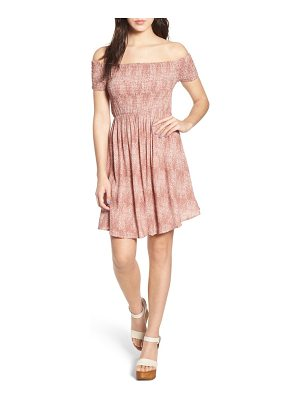 Lira Clothing lilly smocked off-the-shoulder dress