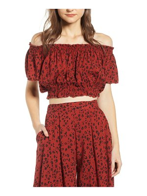 Lira Clothing wild thang off the shoulder crop top