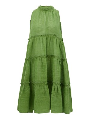 Lisa Marie Fernandez erica tiered linen-blend midi dress