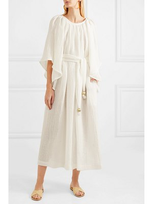Lisa Marie Fernandez linen-blend gauze maxi dress