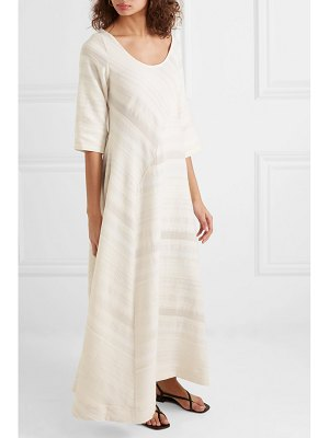 Lisa Marie Fernandez paneled textured-cotton maxi dress