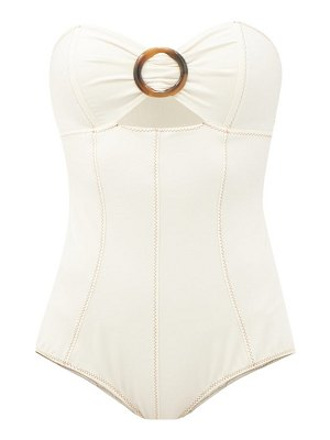 Lisa Marie Fernandez ring-front cutout strapless swimsuit