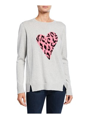 Lisa Todd Animal-Print Heart Intarsia Sweater
