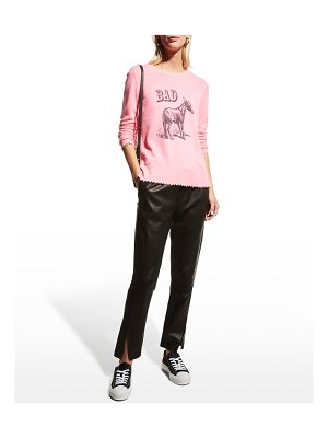 Lisa Todd Bad Ass Graphic Cashmere Sweater