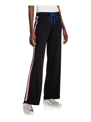 Lisa Todd Racer Cotton/Cashmere Drawstring Wide-Leg Pants