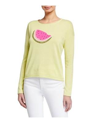 Lisa Todd Whatamelon Embroidered Cotton-Blend Sweater