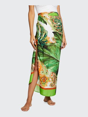 Lise Charmel Long Coverup Tropical-Print Pareo