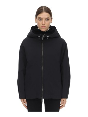 LISKA Hooded jacket w/ fur lining