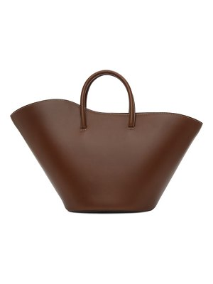 Little Liffner brown medium open tulip tote