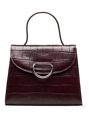 Little Liffner lady croc-embossed leather top handle bag