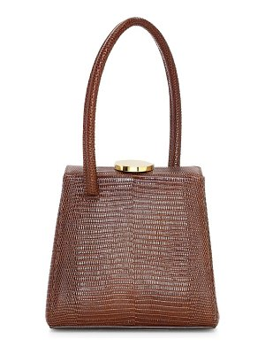 Little Liffner mademoiselle lizard-embossed leather top handle bag