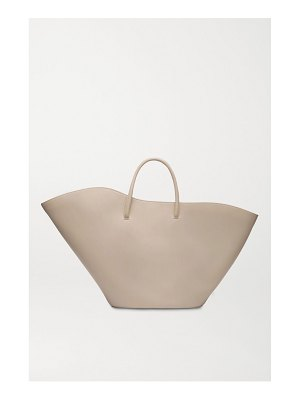 Little Liffner open tulip large leather tote