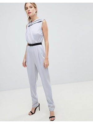 Little Mistress Belted Tailored Jumpsuit